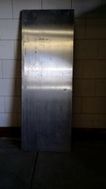 No. 52 Massieve multiplex deur met roestvrijstalen plaat 76.7 x 210.5