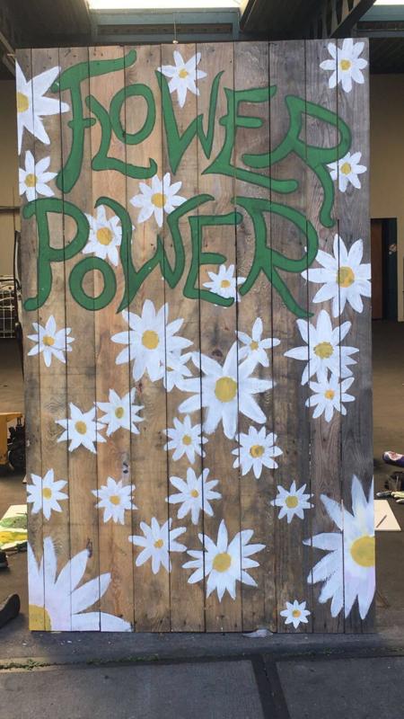 Photobooth / decoratiestuk 'Flower power'