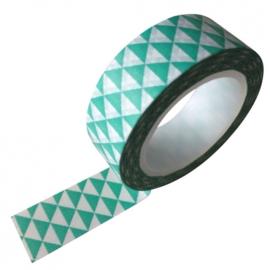 Washi tape grafische driehoek mint