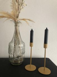 Okergele kaarsen standaard