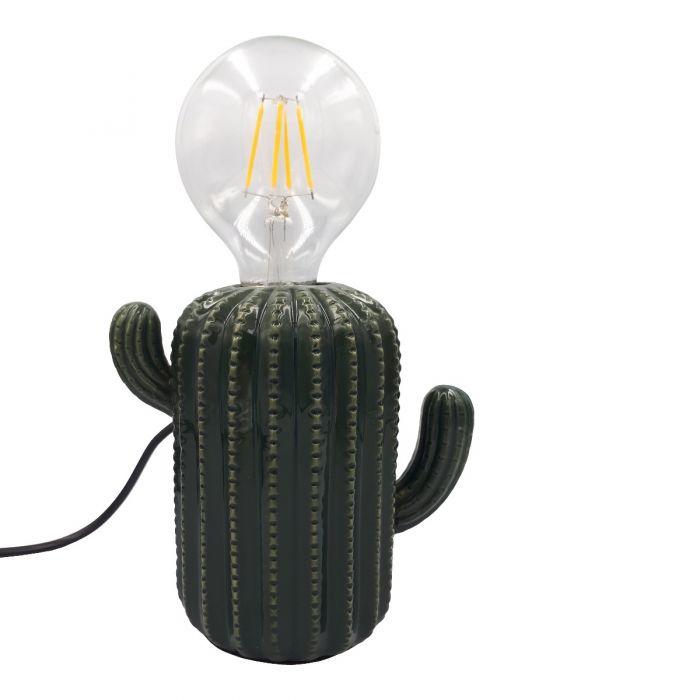 Groene cactus lamp