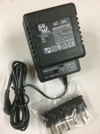 MW 17GS Universelel AC-DC 3-12 volt adaptor 500mA