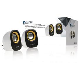 König Speaker 2.0 Bedraad 3.5 mm 4 W Geel/Zwart