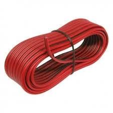 luidsprekerkabel 2 x 0,75 mm² op  rood/zwart  5 meter