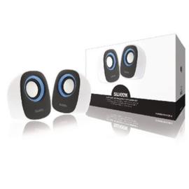 SWEEX. Speaker 2.0 Bedraad 4 W Wit/Blauw