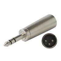 6.3mm stereo jackplug-XLR male stereo