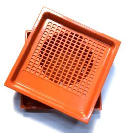 Vintage Kunstof Behuizing orange
