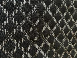 NOVANEX Speakerdoek zwart/zilver geblokt