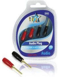 Tip plug Male 2x red 2x black