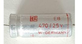 ROE 470uf 25v axiaal elco