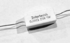 Intertechnik 0,68 ohm 5% 5W