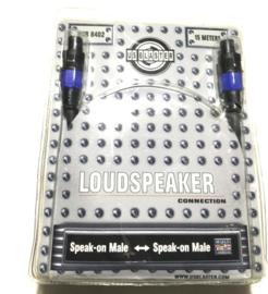 15M Us Blaster speak-on Male speaker-on Male 2x2,5mm2