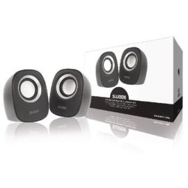 SWEEX. Speaker 2.0 Bedraad 4 W Zwart/Zilver