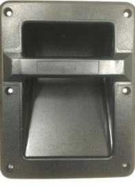 HANDVAT INBOUW PLASTIC ZWART 160 x 210 mm