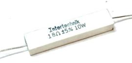 Intertechnik weerstand   18 ohm 5% 10W