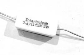 Intertechnik 0,47 ohm 5% 5W