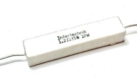 Intertechnik weerstand   1,2 ohm 5% 10W