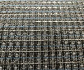 Gitaar Speaker doek zilver glitter/grijs/zwart/blauw
