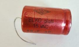 WEGO 68uf 15VAC bipolar Elko glatt