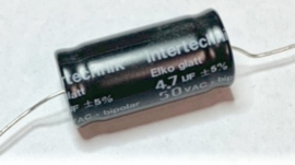 Intertechniek Bipolar Elco Glatt 4,7uf 50v