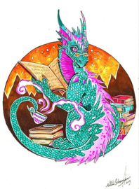 Sticker Bookdragon