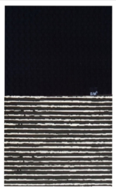 Zwart streep deken