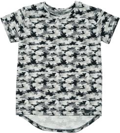 Camo grijs long t-shirt