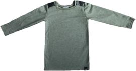 Green leather longshirt