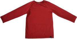 Rood raglan shirt