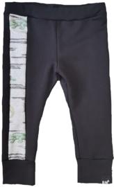 Zwart broek met kroko zijkant broek