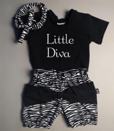 Little diva/ zebra strik bloomer