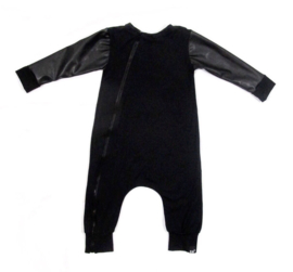 Black leather onesie