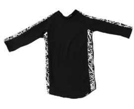 Zwart met only streep jurkje + haarbandje