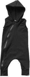 Black hooded onesie