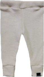 Baby knit off white broek