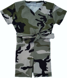 Camo green short jumpsuit