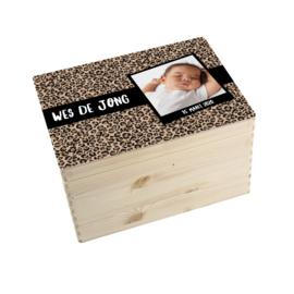 Geboorte/herinnerings kist panter bruin