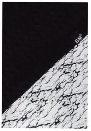 Boxkleed zwart wafel/ marble wit