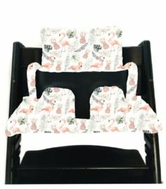 Flamingo stokke kussen set