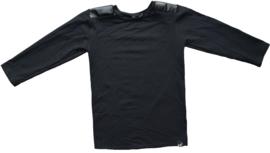 Black leather longshirt