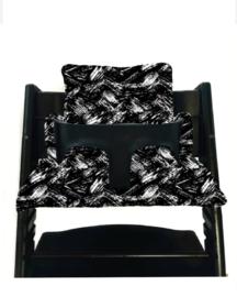 Zwart brush stokke kussen set