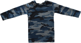 Camo blue leather longshirt