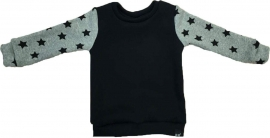Black with light grey stars sweater