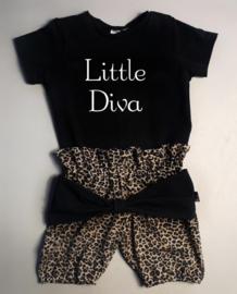 Little diva/ panter bruin strik bloomer
