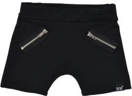Black short zipper