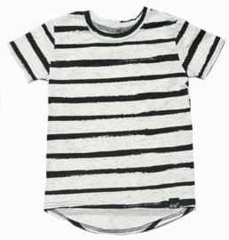 Zwart wit streep long t-shirt