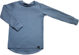 Mini rib blauw shirt