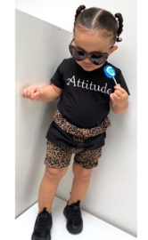 Attitude/ panter bruin strik bloomer