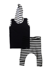 Zwart streep longhemd/ streep baggy