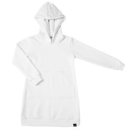 Wit hoodie jurk